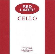 Super Sensitive Red Label 4/4 Full Size Cello Strings