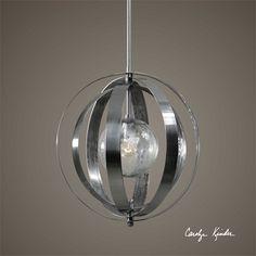 Uttermost Trofarello Silver 1 Light Pendant