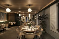 Feelgood Designs • C603 chairs at the Pó Restaurant in Singapore