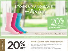 20% Off Gold Toe Store Coupon