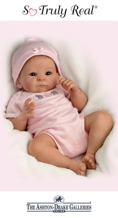 """Let the Little Peanut Baby Doll by Tasha Edenholm melt your heart!  """"This is my favorite of my personal collection. So realistic, I can hardly put her down."""" --GrannyRose : )"""