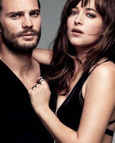 """""""Jamie Dornan ocupa el puesto 2 de los actores masculinos más populares del 2015.  Mientras Dakota Johnson ocupa el puesto 3 de las actrices más…"""""""