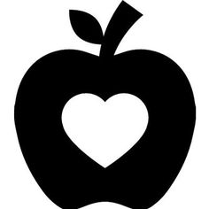 FREE SVG Apple Silhouette | Apple silhouette, Apple clip ...