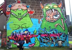 Street art in Reykjavik Iceland. I saw these guys in person and they are great!