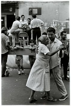 New York, 1960s. You can dance in the street but do not cross the police line?