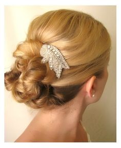 Marla - beaded bridal  rhinestone hair comb | amienoeldesigns - Wedding on ArtFire