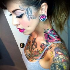 Awesome tattoos on that girl.  #tattoo #tattoos #ink #inked