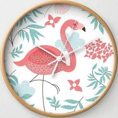 pink flamingo baby nursery
