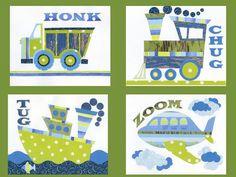Nursery Art Print Childrens Room Decor KidWallArt by LuminaGallery