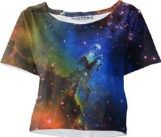 Eagle Galaxy Sleeved Crop Top - Available Here: http://printallover.me/products/0000000p-eagle-galaxy-9