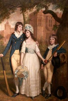 William, Mary Ann, and John De la Pole as Children (Sir William Templer Pole, 1782–1847, 7th Bt, Mary Ann Pole, b.1783, and John George Pole, 1787–1803)  by Thomas Beach       Date painted: 1793