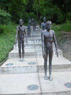 Memorial to the Victims of Communism - Olbram Zoubek, Sculptor, 2002. Prague, Czech Republic. #britairtrans