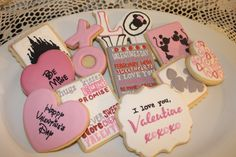 Disney Theme Valentine Sugar Cookies