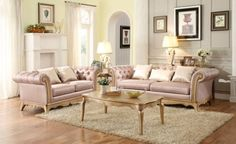 STUNNING FAUX SILK UPHOLSTERED TRADITIONAL TUFTED SOFA LIVINGROOM FURNITURE SALE