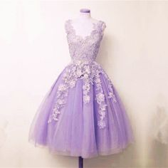 Lace Prom Dress,lilac Party Dress,ball Gowns Party Dress,vintage