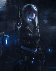 fantasy and science fiction Cyberpunk Kunst, Cyberpunk Girl, Cyberpunk 2077, Character Concept, Character Art, Character Portraits, Concept Art, Alien Concept, Fantasy Warrior