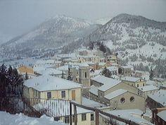 Italia Molise Carovilli con neve