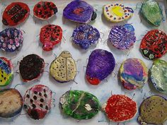 Clay beetles--could be modified to look like Egyptian dung beetles?