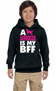 a labrador retriever is my bff t shirt design 1 Youth Hoodie
