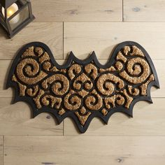 Get your patio in the Halloween spirit with our bat-shaped doormat. Crafted of long-lasting coir and elegantly embossed, it's both practical and slightly spooky. Here's a fun idea: Face it away from your door, so it appears to be hanging upside down. Goth Home Decor, Halloween Home Decor, Halloween House, Halloween Decorations, Gypsy Decor, Happy Halloween, Art Et Design, Design Design, Spooky House