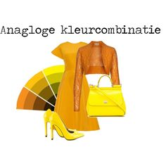 Analoge kleurcombinatie by justbeautiful on Polyvore featuring mode, Rosie Assoulin, Michael Antonio and Dolce&Gabbana