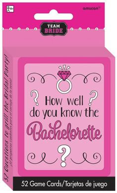 Fun how well do you know the bachelorette party games