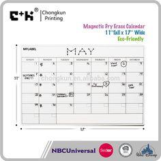 Refrigerator Magnetic WhiteBoard/Monthly dry Erase Fridge magnetic Calendar