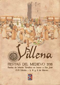 Diseño de cartel presentado para las Fiestas de Medievo de VILLENA (Alicante) 2018.