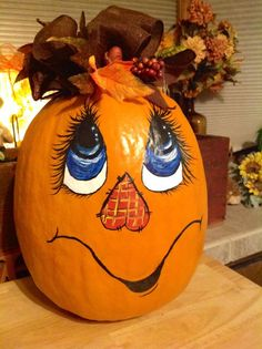 Love to paint Pumpkins for Halloween!
