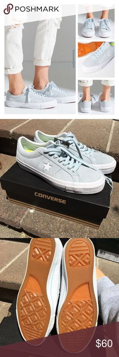 Converse suede ice blue Sz 9 NIB NWT Converse suede one star  light blue NIB Sz 9 bought at urban outfitters Urban Outfitters Shoes Sneakers
