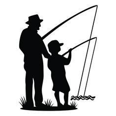 New Custom Screen Printed T Shirt Fishing Father Son