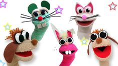 Today I show you how to make Animal sock puppets, dog puppy / cat / mouse / rabbit sock puppet . From a sock of the color that you like, or those that have lost their partner and you do not know wh… Glove Puppets, Sock Puppets, Finger Puppets, Diy For Kids, Crafts For Kids, Diy Crafts, How To Make Socks, Animal Hand Puppets, Puppets For Kids