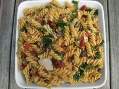 New Pasta Salad Pesto Koud Ideas Easy Pasta Salad Recipe, Baked Pasta Recipes, Spinach Recipes, Easy Salad Recipes, Beef Recipes, Stuffed Shells Recipe, Stuffed Pasta Shells, Pasta Dishes, Food Dishes