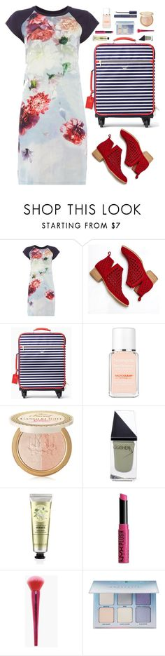 """""""Traveller"""" by cocochaneljr ❤ liked on Polyvore featuring Jeffrey Campbell, Kate Spade, Neutrogena, Too Faced Cosmetics, GUiSHEM, NYX, Boohoo, Anastasia Beverly Hills and Estée Lauder"""
