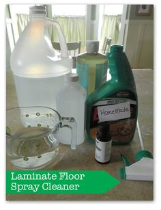 homemade floor cleaner:  1 c. water, 1 c. vinegar, 1 c. rubbing alcohol, 1 tbs. dish soap or castile soap(it will fizz*)   and a few drops of pine essential oil. I put in empty Swiffer Wet Jet bottle( yes you can reuse!) & it works magic! Hardly any scrubbing! Make sure you add the alcohol to avoid streaks!