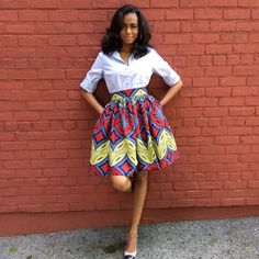 African Print Skirt The Laura Skirt by CHENBURKETTNY on Etsy