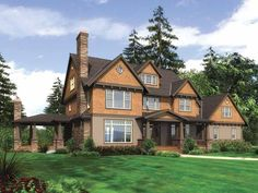Craftsman+House+Plan+with+3959+Square+Feet+and+4+Bedrooms+from+Dream+Home+Source+|+House+Plan+Code+DHSW64169  Possible