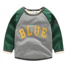 Appliqued Letter Fleece Lined Sporty Pullover for Toddler/Kid