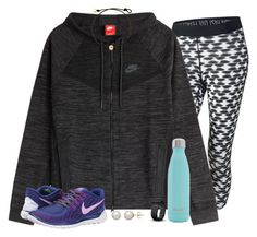 """""""nike-licious✔️"""" by emmig02 ❤ liked on Polyvore featuring NIKE, S'well, Fitbit and Honora"""