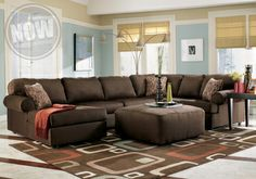 Jessa Place - Chocolate Sectional - Cincinnati Overstock Warehouse $898