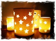 Sternenkeramikteelichter in verschiedenen Größen auf www.dekomagie.de