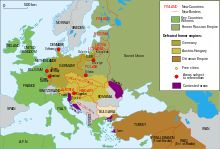 Map of territorial changes in Europe after World War I (as of 1923)