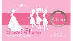 REDUCED 1.50... Bouquet Toss Bridal Shower by MyScratchOffs