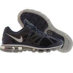 Nike Air Max + 2012 shoes in light midnight navy, metallic silver, and pr pltnm Nike Air Max 2012, Cheap Nike Air Max, Nike Air Max For Women, Nike Free Shoes, Running Shoes Nike, Nike Shoes, Cheap Sneakers, Air Max Sneakers, Sneakers Nike