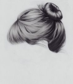 Realistic drawing of hair.