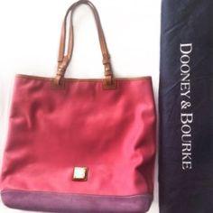 Dooney & Bourke Pink/Purple Colorblock Tote