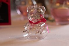 Contenant à dragées ourson, décoration idéale pour baptême ou baby shower ! Rendez votre événement unique.