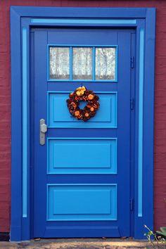 Arrive home with a little style! Blue front door. www.PrestigePaints.com