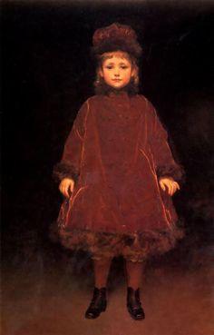 Frederic Leighton Portrait of a child