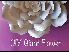 Giant Paper Flower Backdrop Tutorial - YouTube